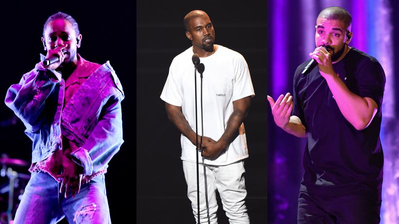 Kendrick Lamar, Kanye West, Drake
