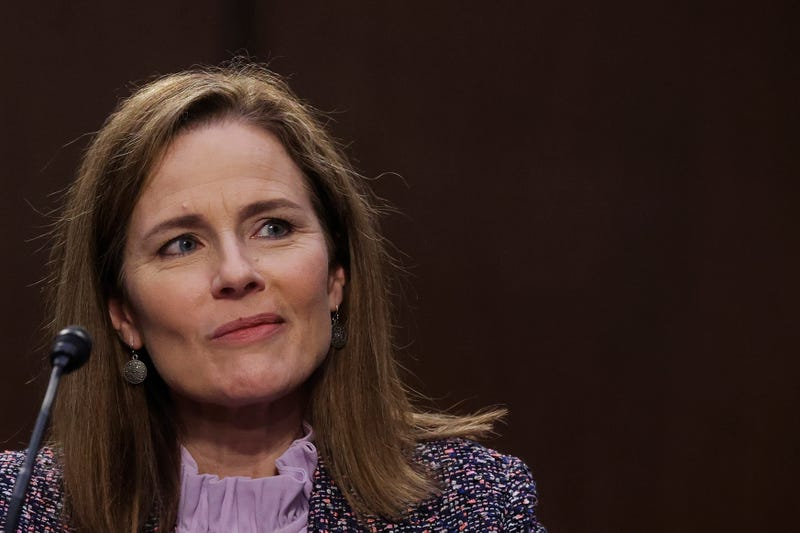 Supreme Court nominee Amy Coney Barrett on day three of her Senate confirmation hearing