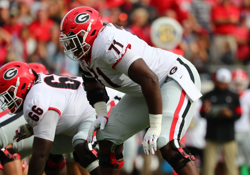 Offensive tackle Andrew Thomas