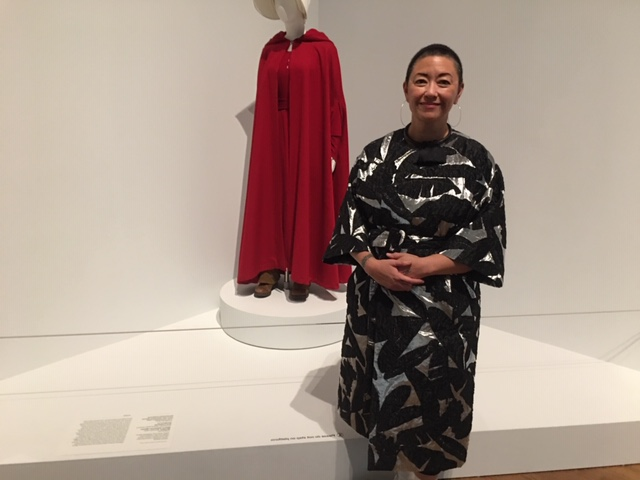 """Costume designer Ane Crabtree, whose iconic """"The Handmaid's Tale"""" costume is on display at the Philadelphia Museum of Art."""