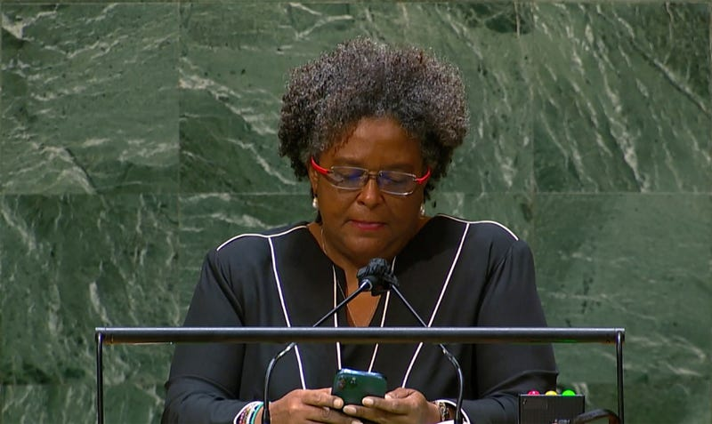UN General Assembly Glimpses Check That Phone