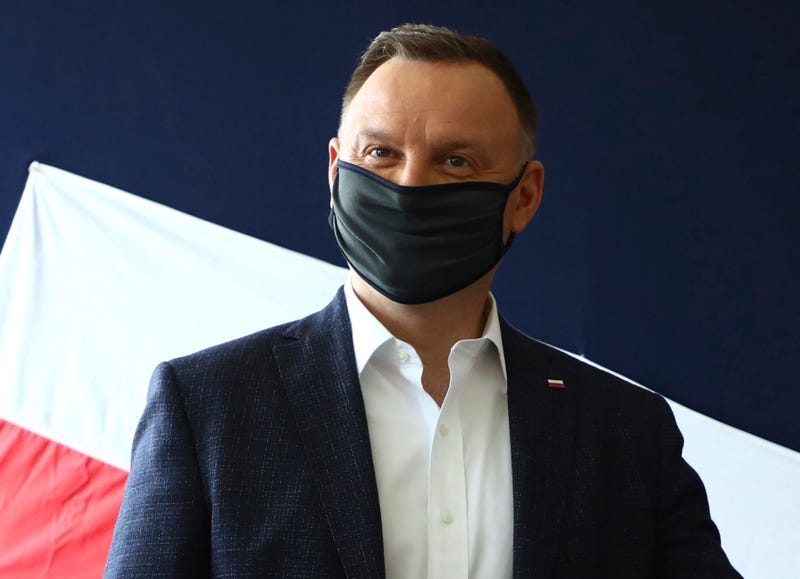Virus Outbreak Poland Duda