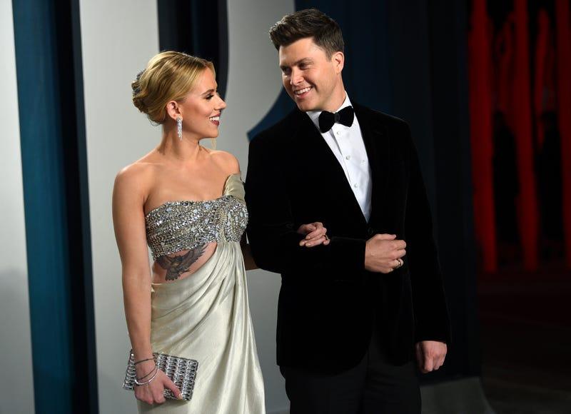 People Scarlett Johansson Colin Jost
