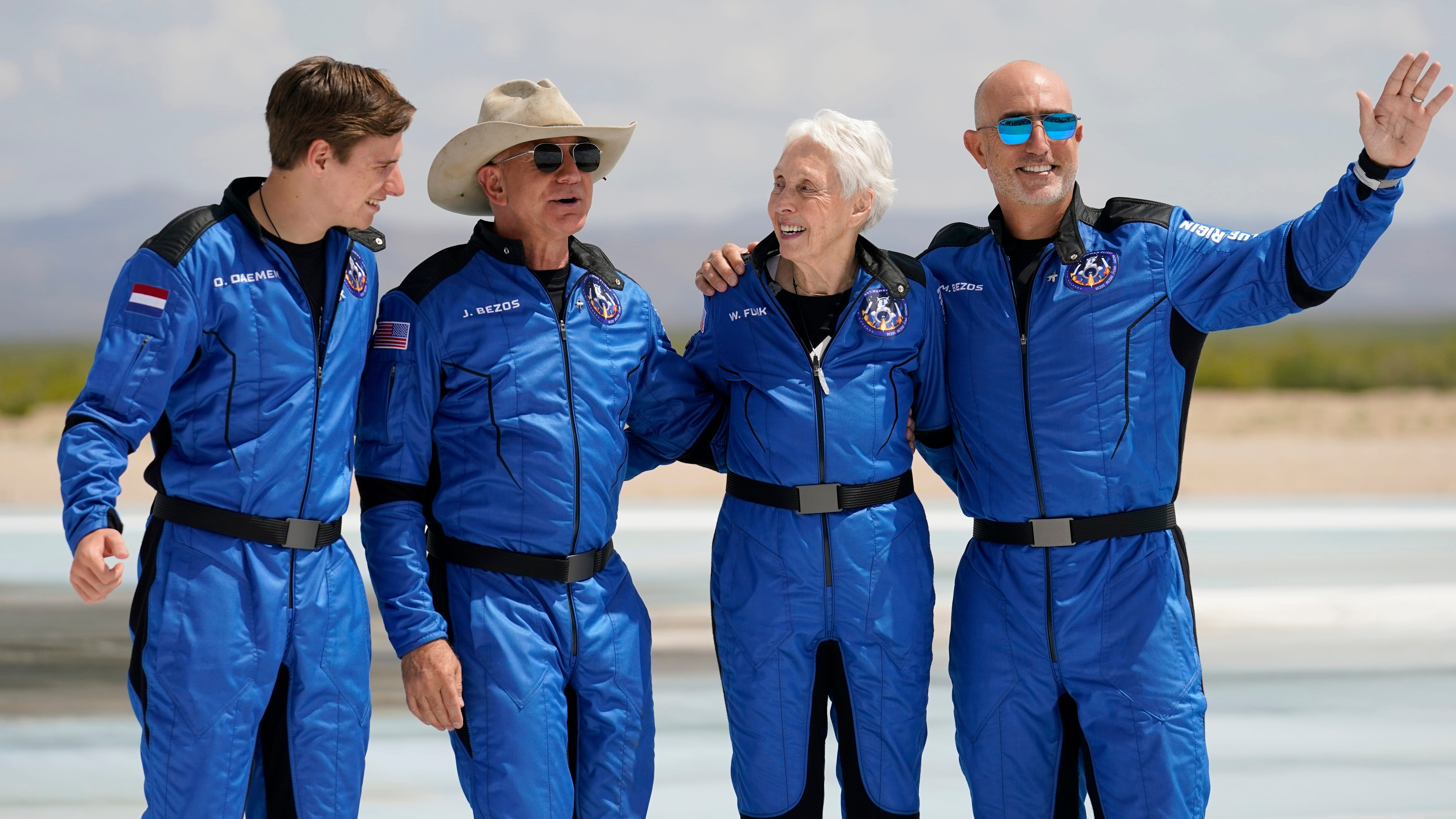 Jeff Bezos blasts into space on own rocket: 'Best day ever!'