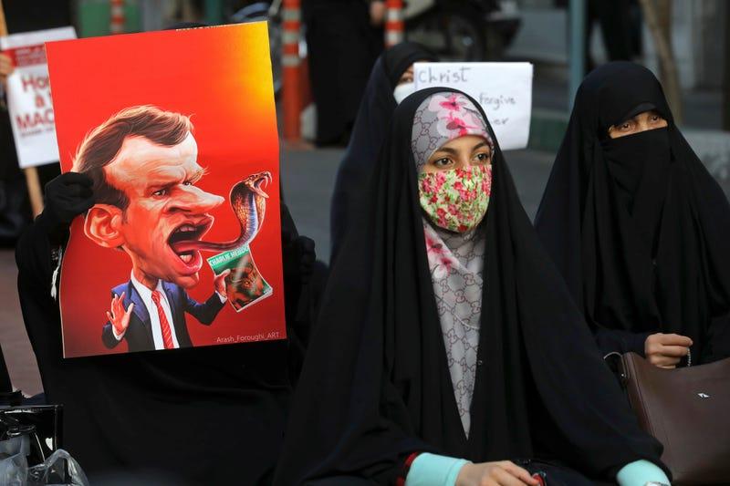 Iran France Protest