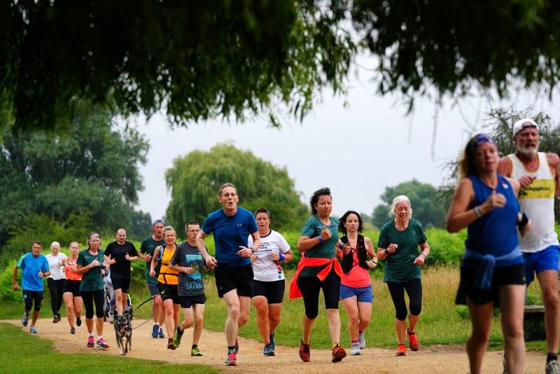 Virus Outbreak Britain Park Run