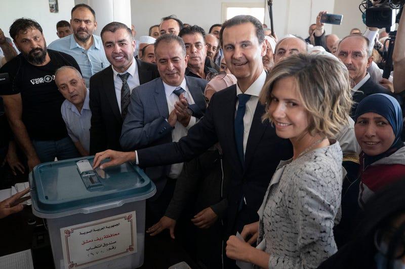 APTOPIX Syria Presidential Election