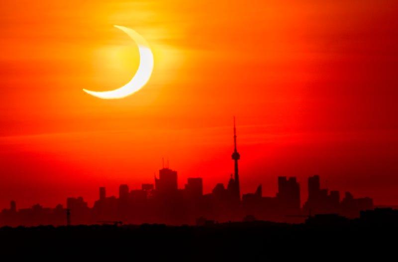APTOPIX Solar Eclipse Canada