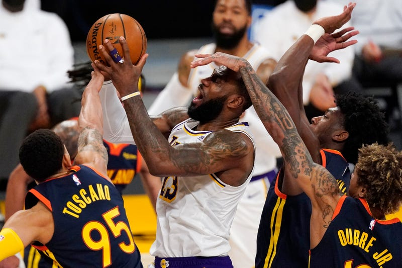 APTOPIX Warriors Lakers Basketball
