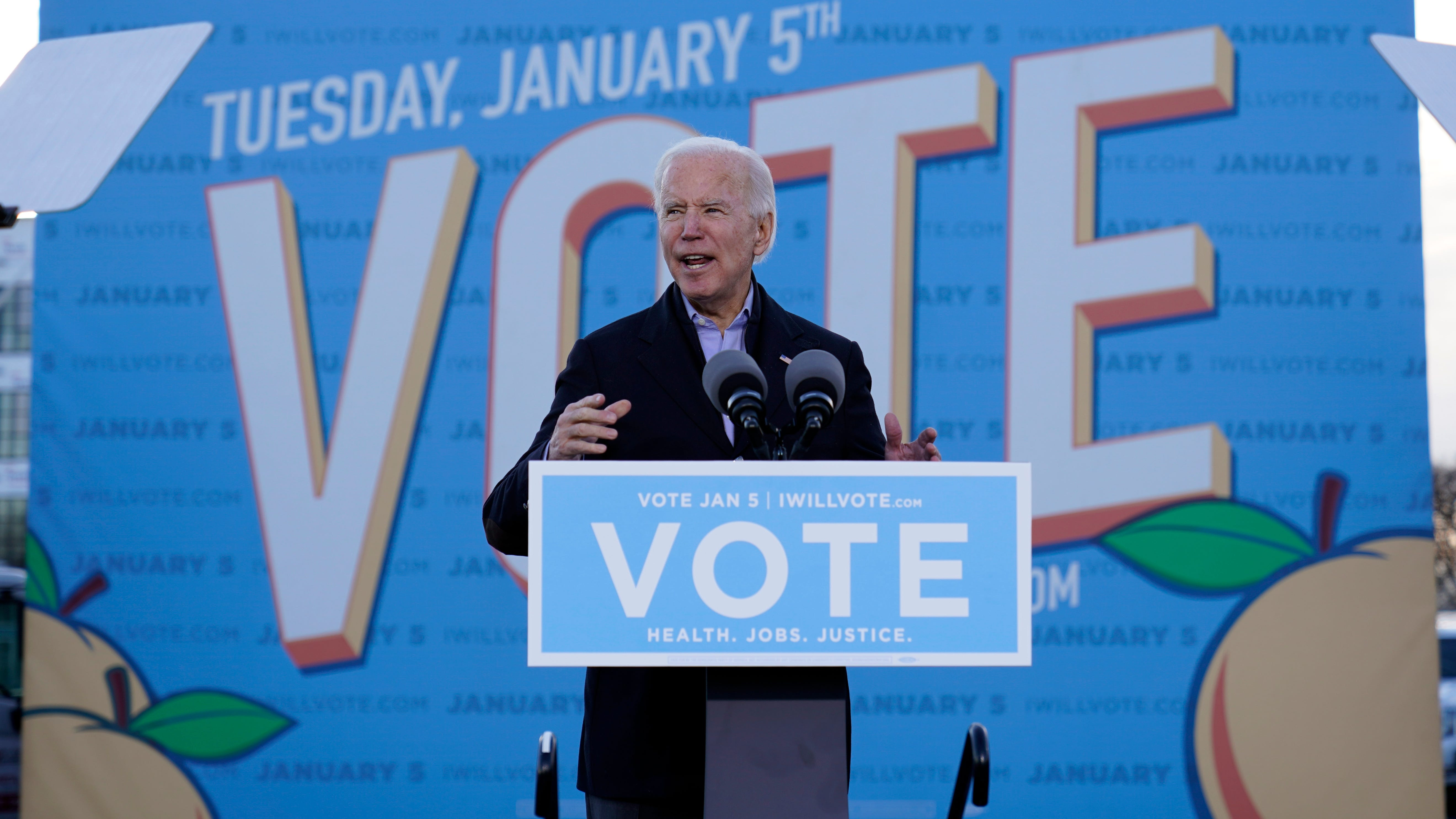 The Latest: Biden says Georgia can 'chart the course' for US