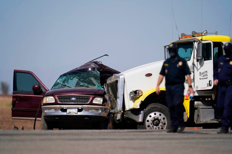 APTOPIX California Highway Crash