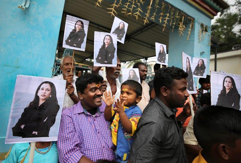 APTOPIX India Kamala Harris
