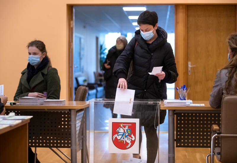 Virus Outbreak Lithuania Election
