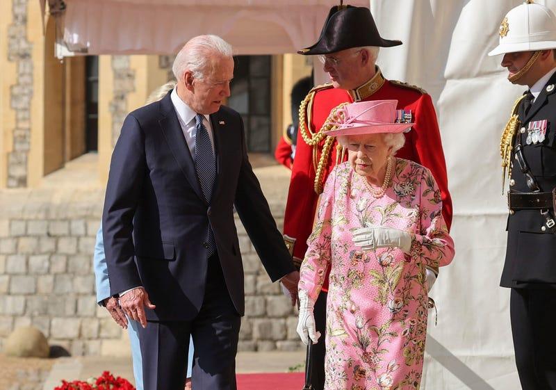 APTOPIX Britain Biden Queen