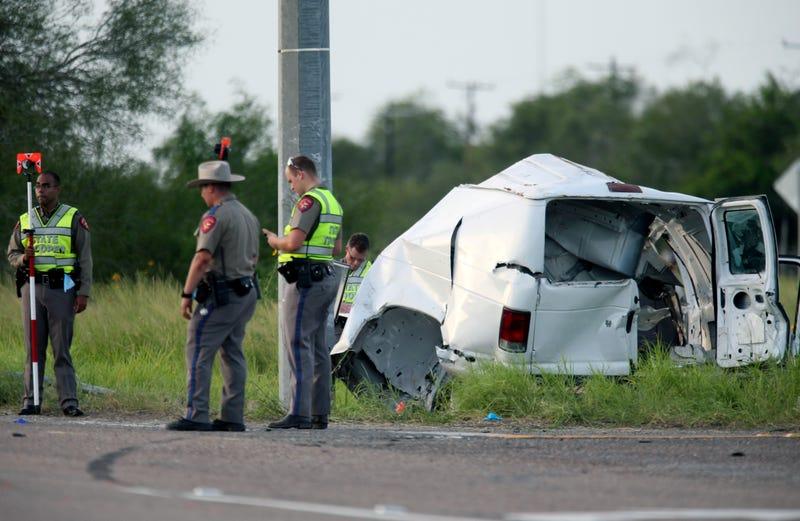 Overloaded Van Crashes