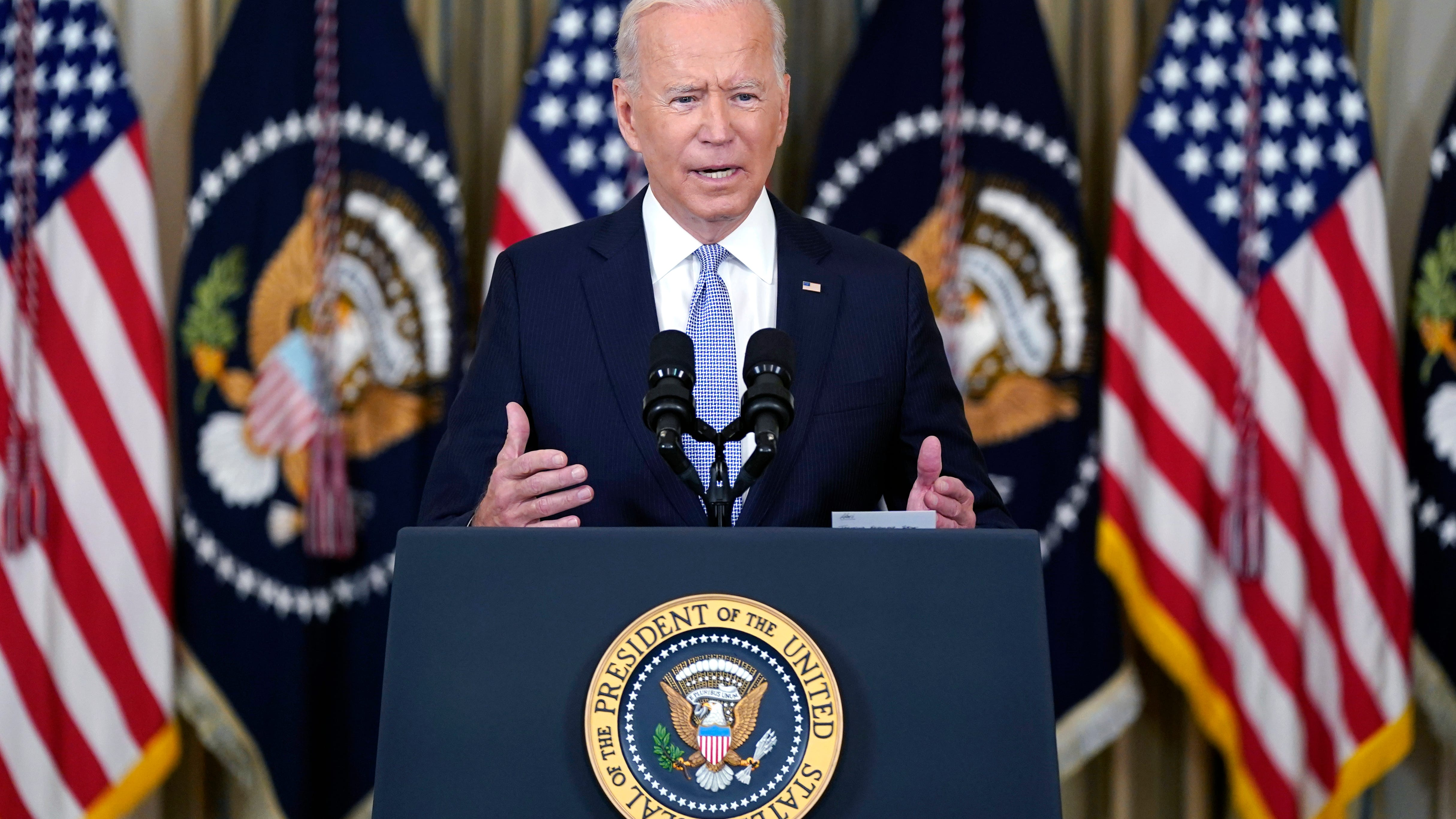 Biden urges COVID-19 booster shots for those now eligible