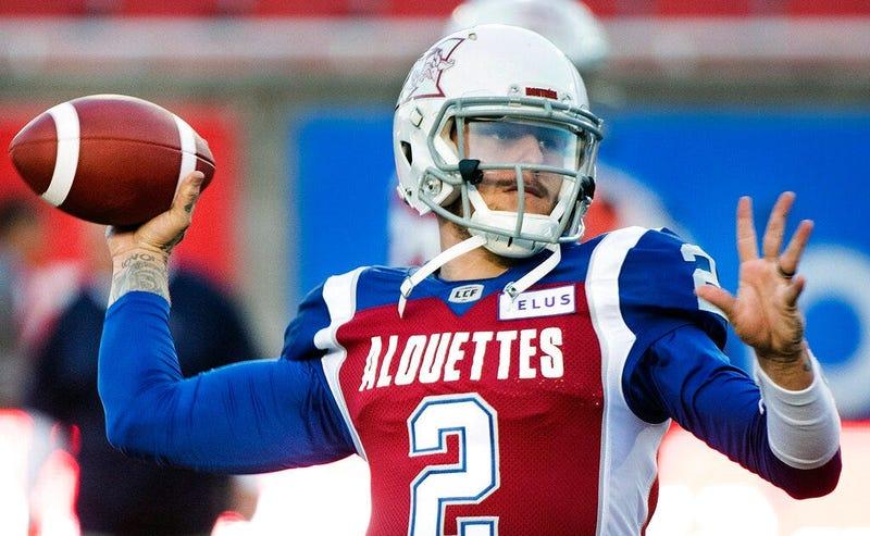 Montreal Alouettes quarterback Johnny Manziel