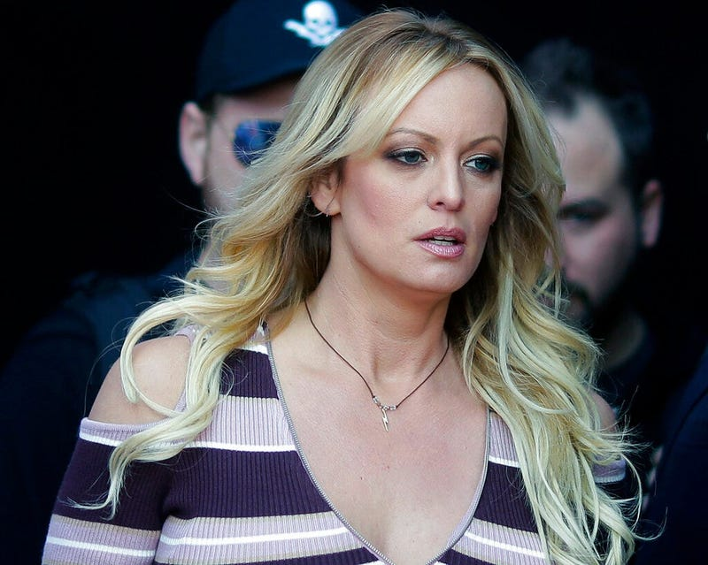 "adult film actress Stormy Daniels arrives at the adult entertainment fair ""Venus"" in Berlin"