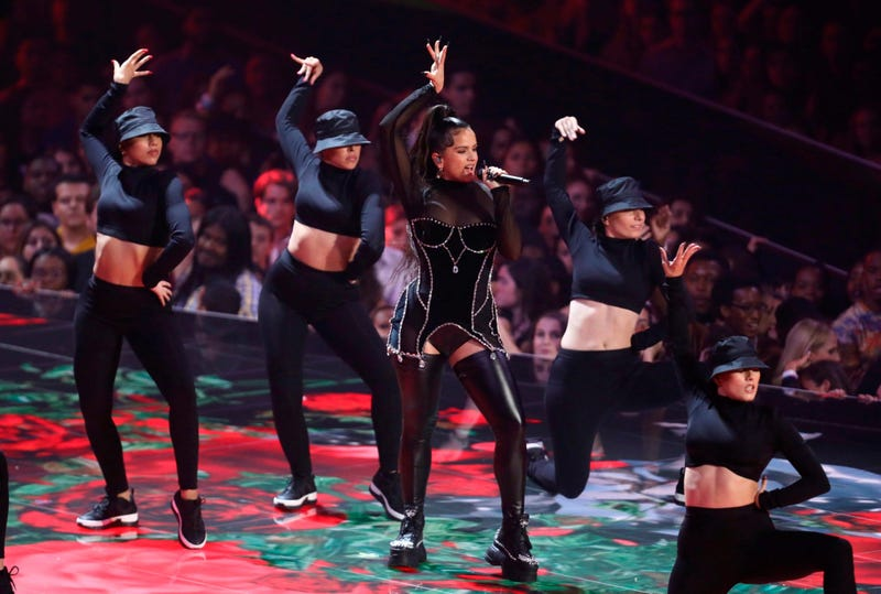 Rosalia performs a medley at the MTV Video Music Awards at the Prudential Center on Monday, Aug. 26, 2019, in Newark, N.J.