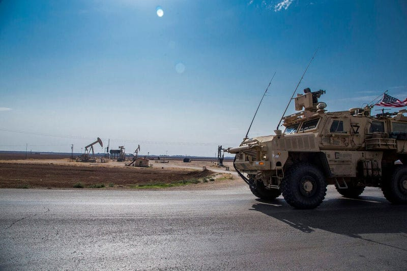 U.S. forces patrol Syrian oil fields. Pentagon is increasing U.S. efforts to protect Syria's oil fields from the extremist group as well as from Syria itself and the country's Russian allies.