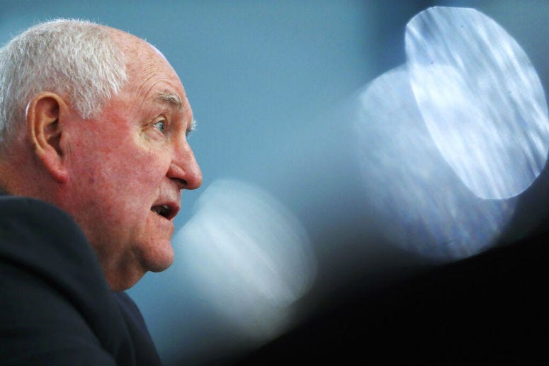 Agriculture Secretary Sonny Perdue testifies during a House Agriculture Committee hearing,