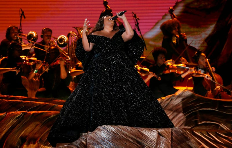 Lizzo performs a medley at the 62nd annual Grammy Awards on Sunday, Jan. 26, 2020, in Los Angeles.
