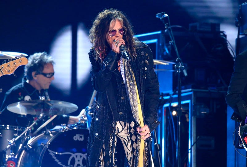 Steven Tyler, of the musical group Aerosmith, performs at the 62nd annual Grammy Awards on Sunday, Jan. 26, 2020, in Los Angeles.