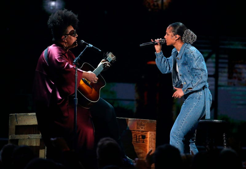 Brittany Howard, left, and Alicia Keys perform at the 62nd annual Grammy Awards on Sunday, Jan. 26, 2020, in Los Angeles.
