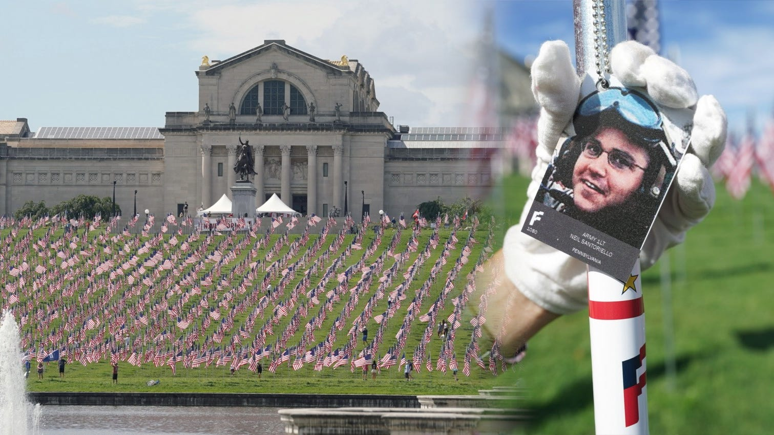 PHOTOS: 7,582 American flags in St. Louis park honor fallen soldiers since 9/11
