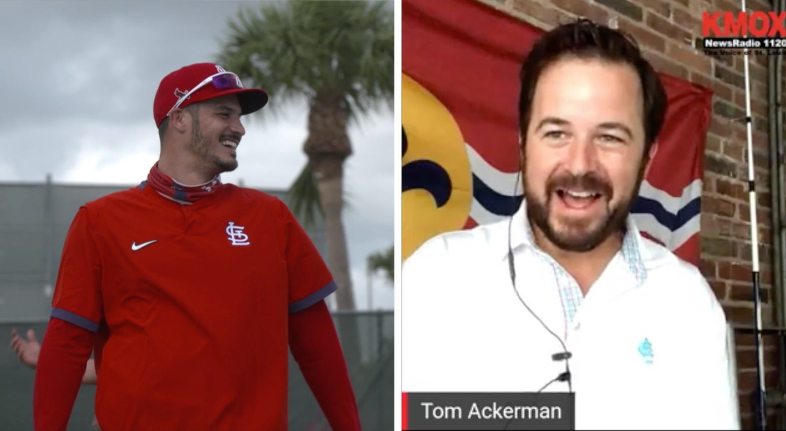 WATCH LIVE: Cardinals 3B Nolan Arenado joins the Garage Happy Hour with Tom Ackerman