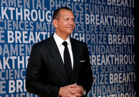 Alex Rodriguez attends a charity event in 2017.
