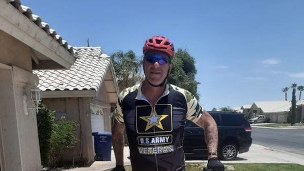 Veteran rides 250 miles for a cause: Stop soldier suicides