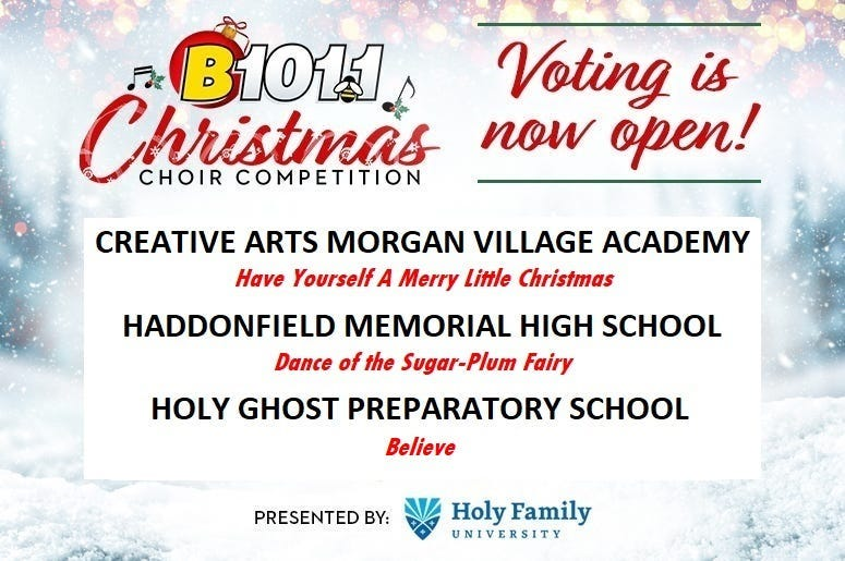 B101 Christmas Music 2021 Christmas Choir Voting Round 2 9 12