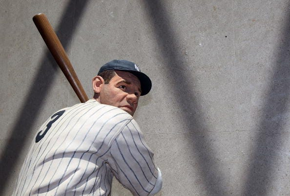 A statue of Babe Ruth at the National Baseball Hall of Fame in Cooperstown