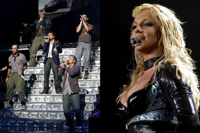 Backstreet Boys and Britney Spears