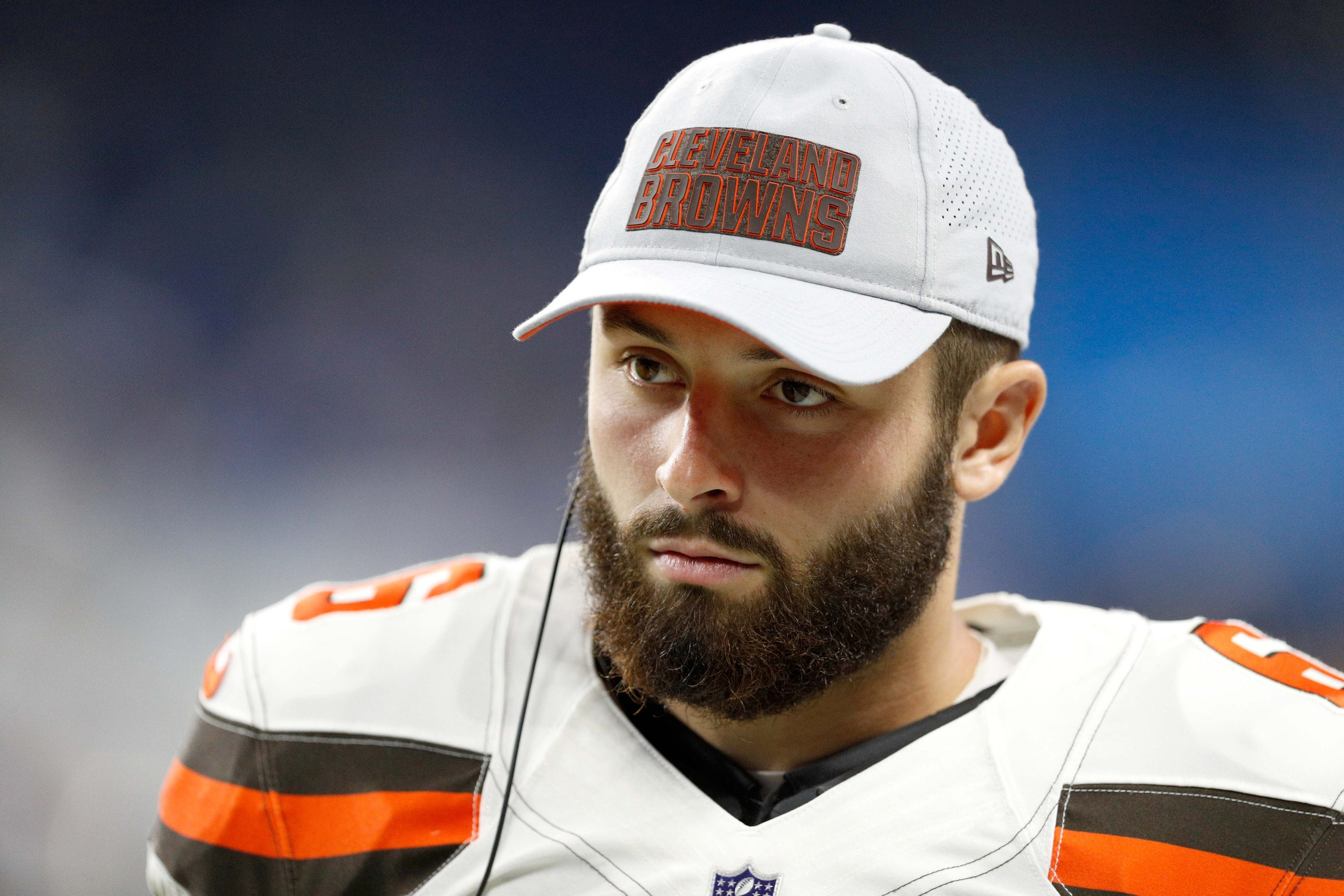 brand new a3c86 43cc0 Browns QB Baker Mayfield Thought Patriots Would Draft Him