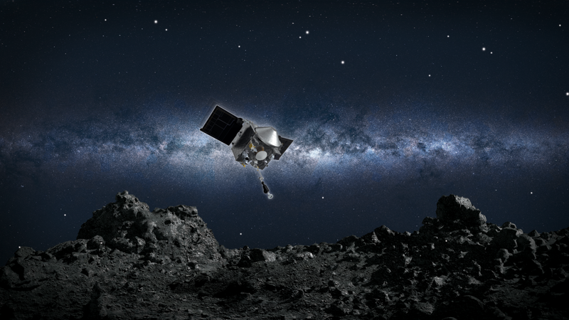 OSIRIS-REx collects sample from asteroid Bennu