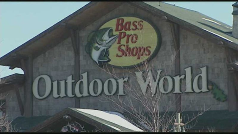 exterior of Bass Pro building in Independence, MO