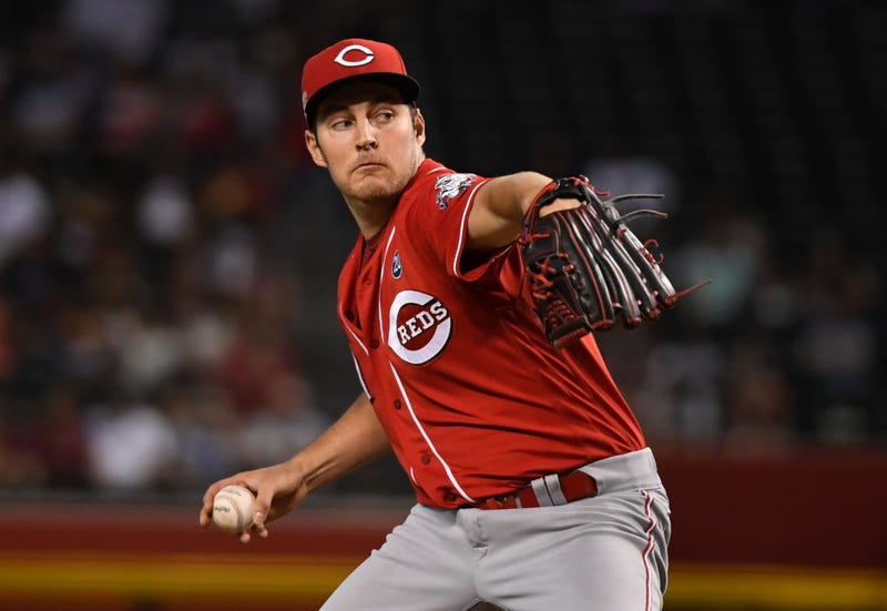 Trevor Bauer delivers a pitch for the Reds.