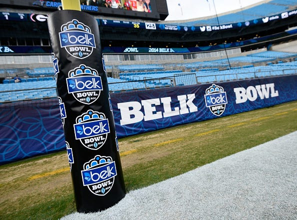 The 2014 Belk Bowl is ready to go in Charlotte