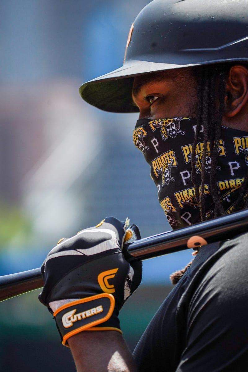 Josh Bell wearing mask