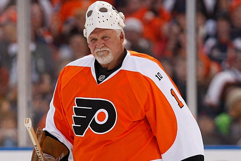 Philadelphia Flyers goalie Bernie Parent is introduced before the start of the Alumni Winter Classic game against the New York Rangers at Citizens Bank Park in Philadelphia, Pennsylvania, Saturday, December 31, 2011.