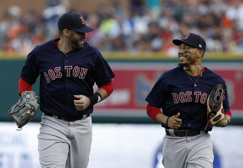 J.D. Martinez and Mookie Betts