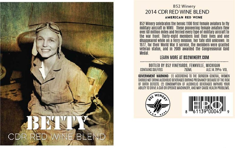 Betty Wine Label