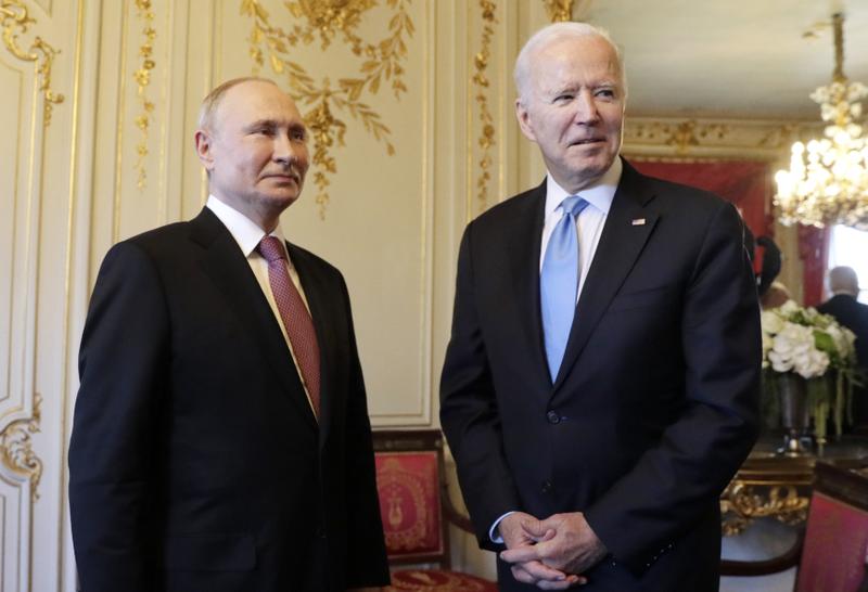 Russia's President Vladimir Putin and US President Joe Biden