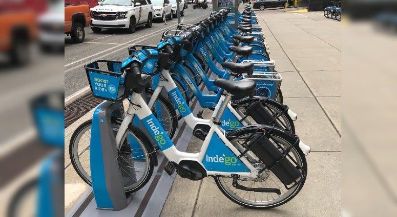 E-bikes in Philadelphia.