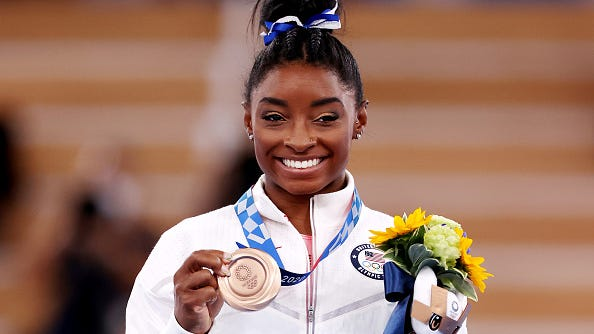 Simone Biles 'keeping door open' for potential return at 2024 Olympics