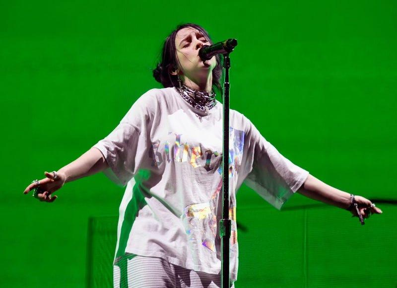 Billie Eilish sings during the 2019 Coachella Festival