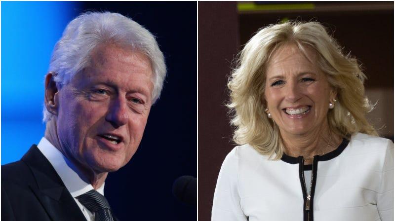 Bill Clinton (left) / Jill Biden (right)