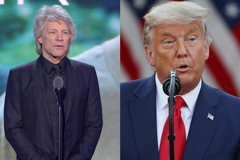 Jon Bon Jovi and Donald Trump